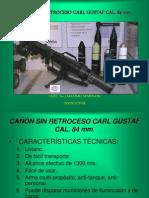 CAÑÓN SIN RETROCESO CARL GUSTAF CAL