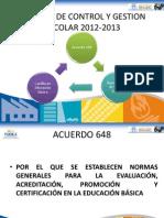 Pantallas Cartilla de Evaluacion 2012-2013