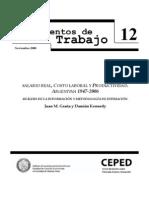 98012220 GRANA Salario Real Costo Laboral y Productividad Argentina 1947 2006