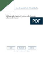 El Efecto de Los Salarios Minimos en Los Ingresos Laborales en Mexico