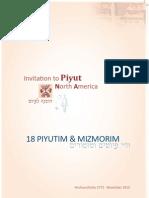 Piyut North America Resource Book