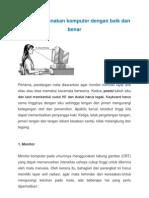 Cara Menggunakan Komputer Dengan Baik Dan Benar