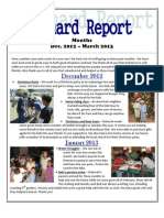 Newsletter Dec. 2012 - March 2013