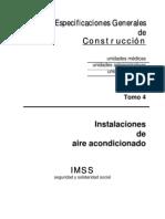 Especificaciones de Aire Acon. T-4