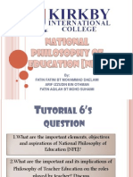 National Philosophy of Education [Npe]