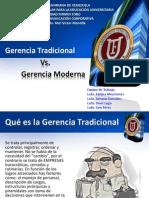 Gerencia Tradicional y Gerencia Moderna