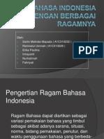 Bahasa Indonesia Dengan Berbagai Ragamnya