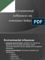 environmental influences on consumer behavior