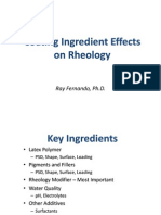 Coating Ingredient Effects on Rheology