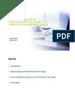 Nuevo Enfoque Administ_riesgo y Impacto Auditoria Interna 2011