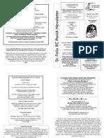 St Felix RC Parish Newsletter - 4th Sunday of Lent 2009