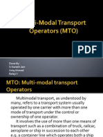 PPT - Multi Modal Transport Operations | Containerization