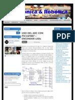 USO DEL ADC CON PIC16F887 – ENCENDER LEDs