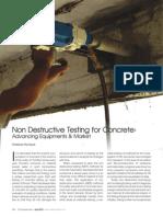 Article on 'Non Destructive Testing for Concrete
