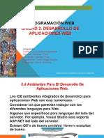 2.4 Ambientes Para El Desarrollo de Aplicaciones Web