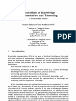 Foundations on Knowledge Representation and Reasoning by Lakemeyer and Nebel