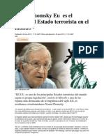 Noam Chomsky Eu Es El Principal Estado Terrorista en El Mundo