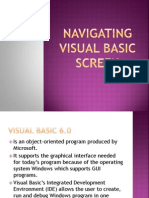 Navigating Visual Basic