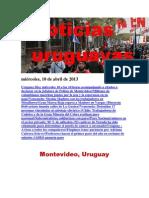 Noticias Uruguayas miércoles 10 de abril del 2013
