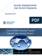 Cyber Security Assessments of Industrial Control Systems