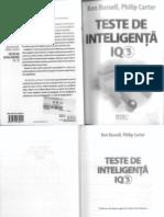 K Russell_P Carter_Teste de Inteligenta