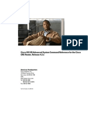 Cisco IOS XR Advanced System Command Reference for the Cisco