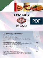 OscarS Food Menu