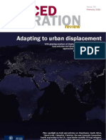 Forced Migration Issue 34 - Adapting to Urban Displacement
