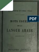 Mots Usuels de La Langue Arabe Accompagnes d Exercices