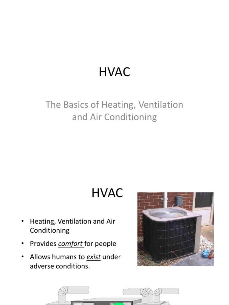 Hvac Air Conditioning Drawing Basics