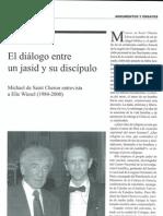 En torno al libro de entrevistas de Michaël d Saint-Cheron a Elie Wiesel,  por Oro Jalfon
