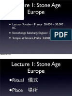 Lecture 1 Stone Age Europe