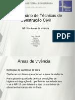 SEMINÁRIO NB 18 - Áreas de vivência