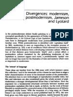 Nicholls, Peter - Divergences Modernism, Postmodernism, Jameson and Lyotard