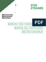 Manual Kawasaki z750