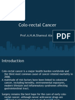 Colo Rectal Cancer by Prof Shamsul Alam