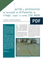 Clasificación y protocolos de ensayo de difusores de riego, según la norma ISO 8026