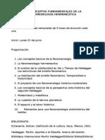Temario del curso - Fenomenología