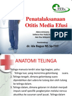 Terapi Operatif Pada Otitis Media Efusi