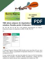 TSE altera número de deputados federais de 13 estados; Paraíba perde 2 federais e 6 estaduais