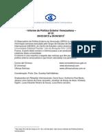 Informe de Política Exterior Venezuelana