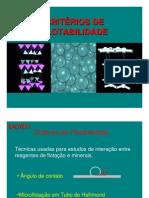 CRITÉRIOS DE FLOTABILIDADE