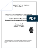 25596854 Indian Wrist Watch Industry Competition Analysis of Market Leaders 120329072806 Phpapp02