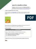 Guía para la consulta en línea