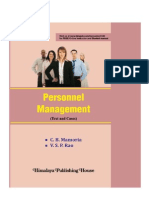 186499050156477511113$5^1REFNOPCH 143 Personnel Management C.B. Mamoria, V.S.P. Rao Chapter Preview