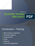 Blaster Training and Safety
