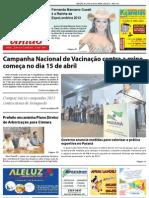 Jornal União - Edição de 27 de Março à 09 de Abril de 2013