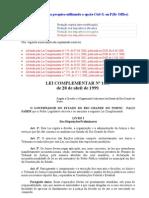Lei Organização Judiciária RN