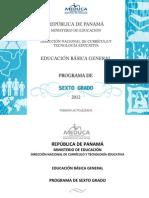 6°curriculo MEDUCA2012
