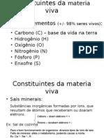 1.Constituíntes da matéria viva